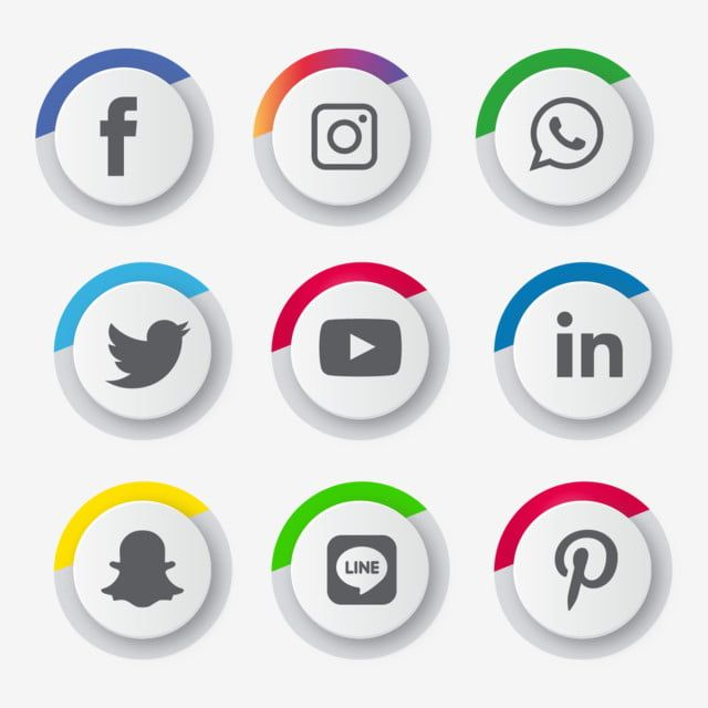 Social Media Icons Set Logo Vector Illustrator Social Icons Logo Icons Media Icons Png And Vector With Transparent Background For Free Download In 2020 Social Media Icons Media Icon Snapchat Marketing