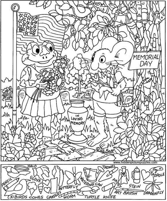 Hidden Object Coloring Pictures Coloring Page
