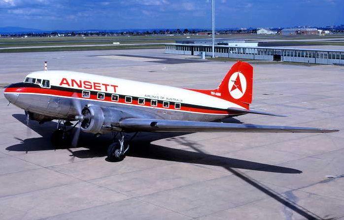 ANSETT Douglas DC-3-232A - (VH-ABR)