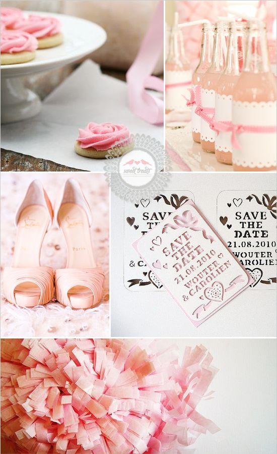 pink wedding inspiration, love the sodas/ drinks
