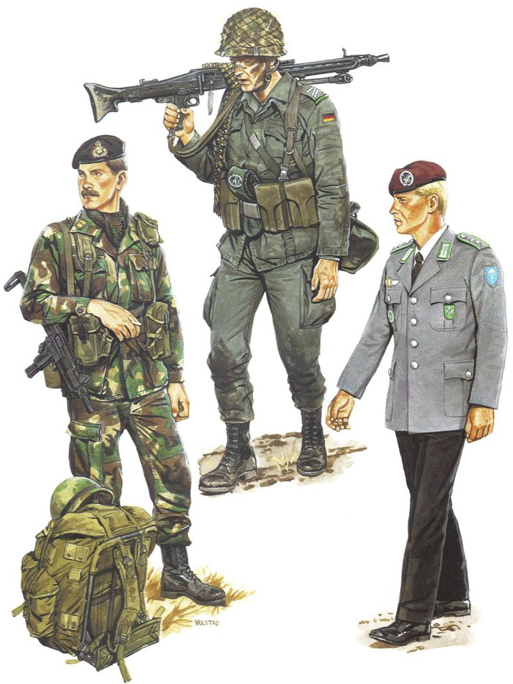 NATO Forces, 1980s - Luxembourg and West Germany Soldat de ... - photo #8