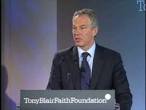 Tony Blair speech on the launch of his Faith Foundation - YouTube
