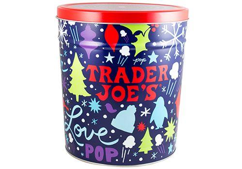 Trader Joe's Popcorn Tin $9.99 #traderjoes #Popcorn #Tin