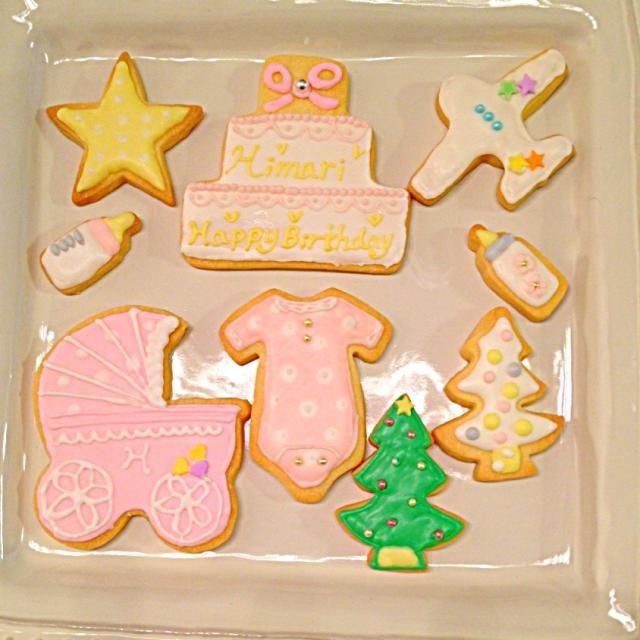 お友達の出産祝いに♡ママ友2人と合作。 - 7件のもぐもぐ - アイシングクッキー♡ by Chez Blanca
