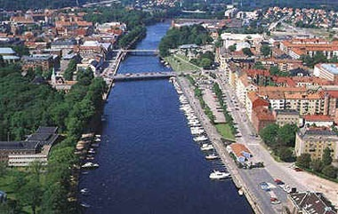 Halmstad, Sweden. The city Sissy is going to school