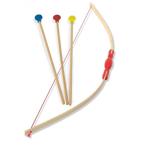 Wooden Bow and Arrow Set - Best Classic Outdoor Wooden Toys for Kids This Summer. SmallforBig.com #outdoors #toys #kids