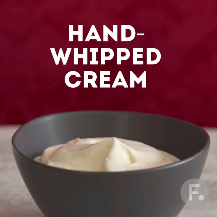 Easy Hand-Whipped Cream