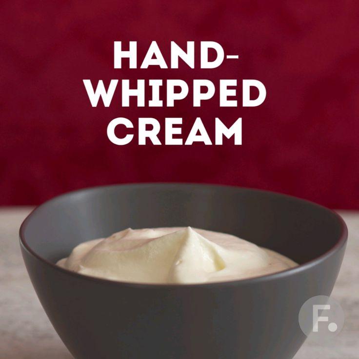 Easy Hand-Whipped Cream