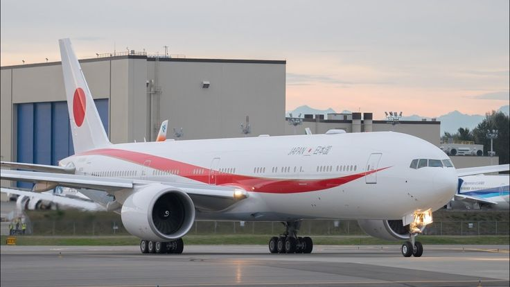 Japan Air Self Defense Force 777-300ER Delivery Flight from Paine Field