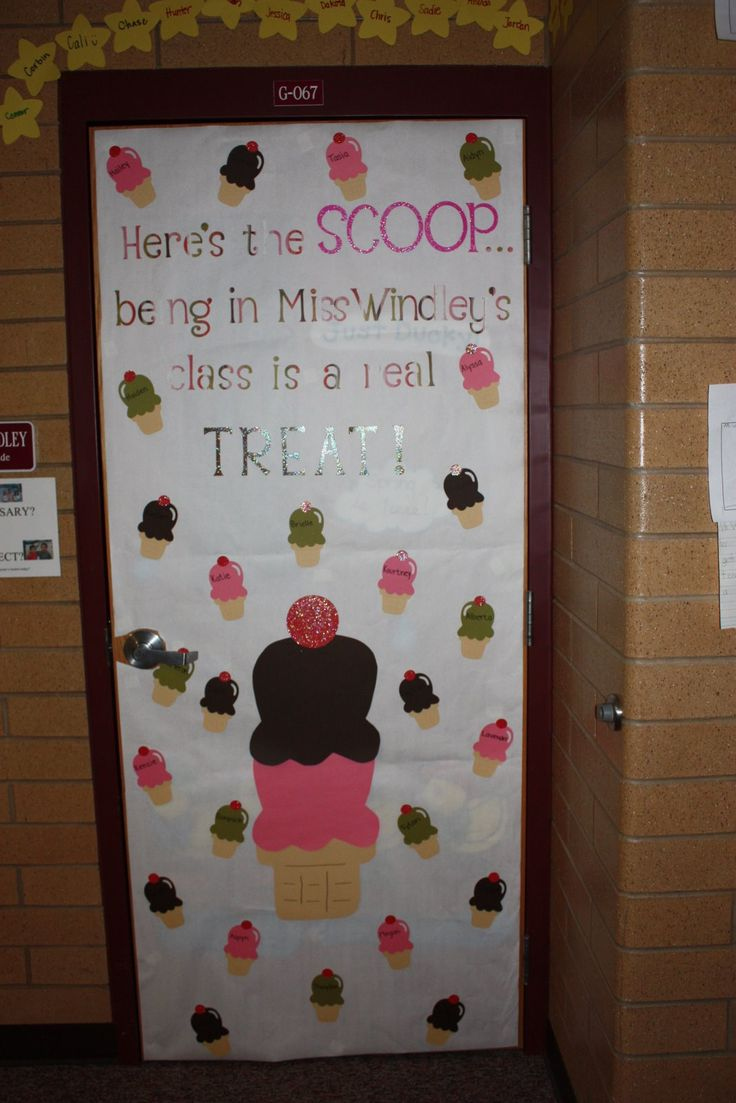 Here's The Scoop. This is super cute and you can have the pictures of the kids on the ice cream cones!!