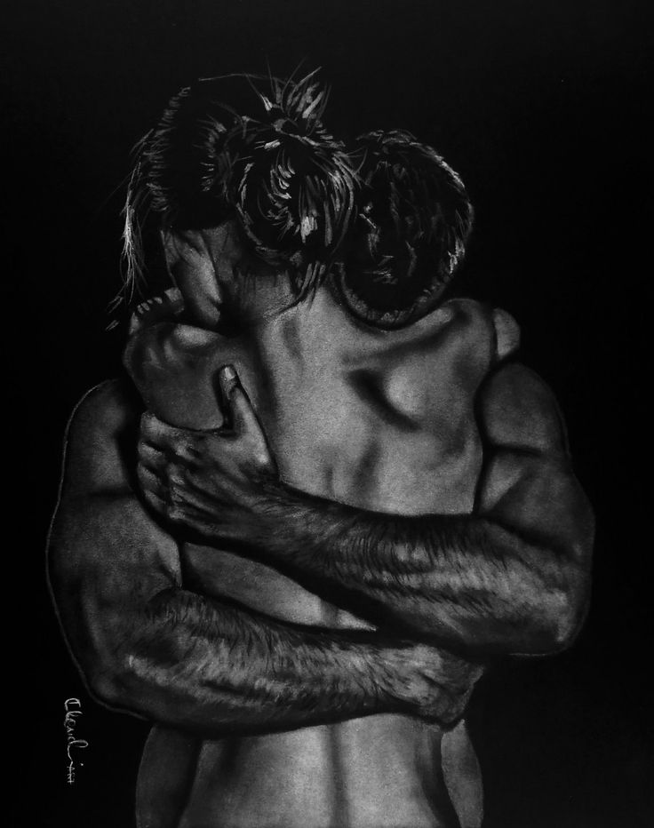 You and I 'ratezseB Pencil drawing by Klaudia Hajós-Tar