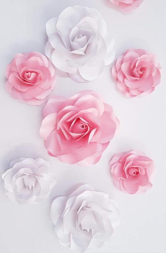 Table Decorations Rose Wedding Paper Flower Decorations 56 Svg