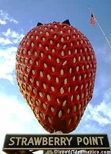 World's Largest Strawberry, Strawberry Point, Iowa
