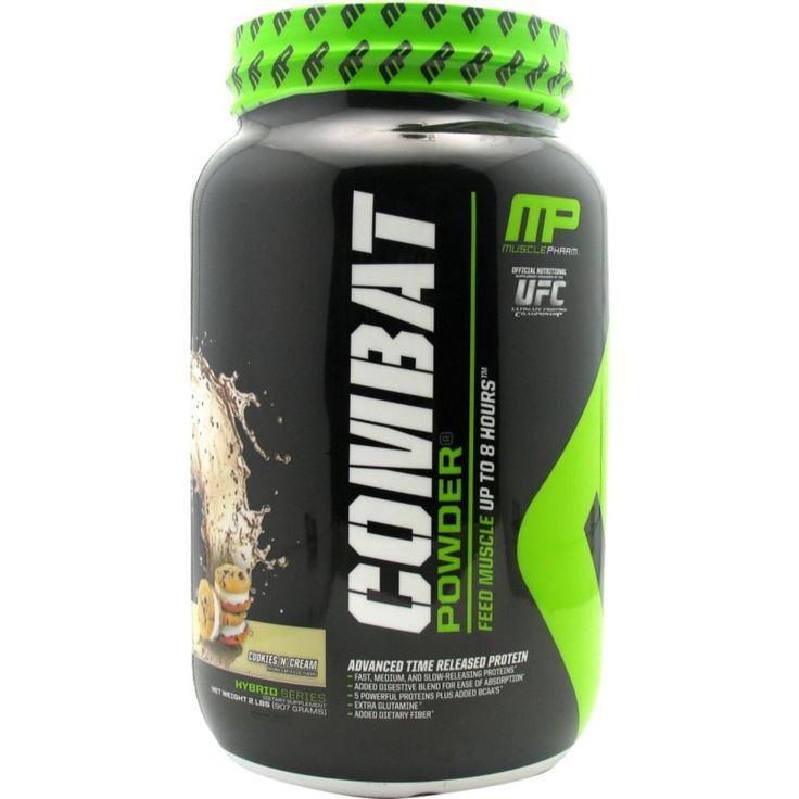 Muscle Pharm Combat Protein Powder Cookies N' Creme 2 lbs