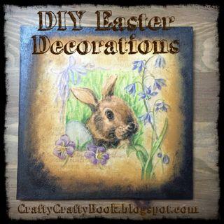 Crafty Crafty Book: DIY Easter Decoration - easy
