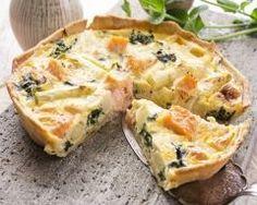 Quiche aux asperges, saumon, et fromage frais