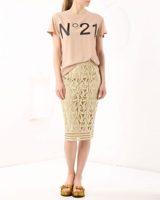 Patterned lace midi skirt N°21 #N21 #lace #skirt #fashion #style #stylish #love #socialenvy #me #cute #photooftheday #beauty #beautiful #instagood #instafashion #pretty #girl