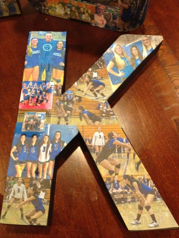 Volleyball Senior night gift. Wish I wouldve seen this before senior night by ann