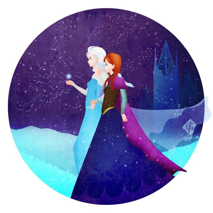 Elsa and Anna by Ylden