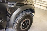 2010-2014 Ford Raptor Carbon Fiber Vinyl Fender Flare Wrap Kit 4pc
