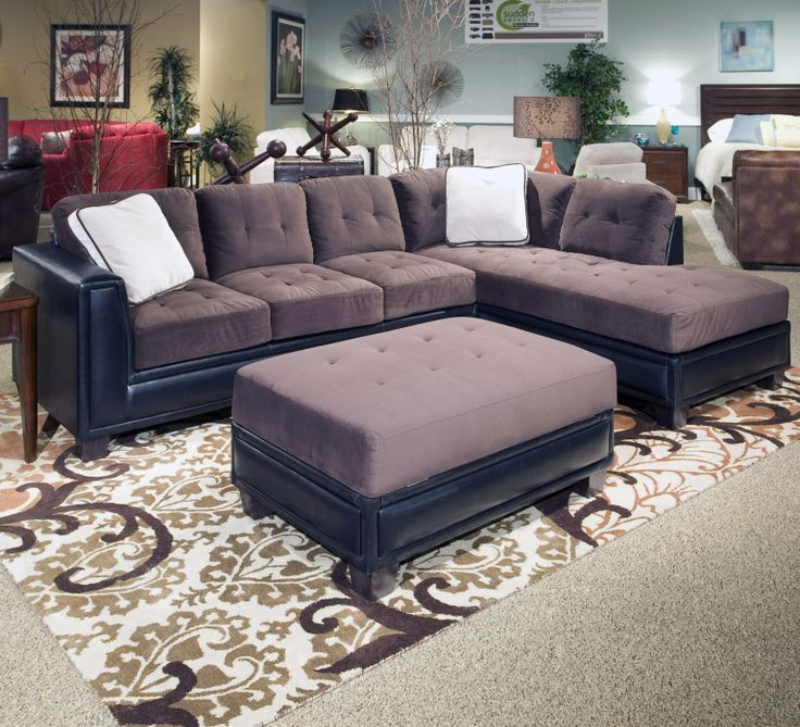 Norwich 3 Piece Sectional And Ottoman Group By Klaussner International FurnitureLiving Room