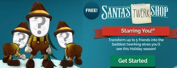 FREE JibJab Ecards and Videos ~ New Santa's Twerk Shop JibJab Video