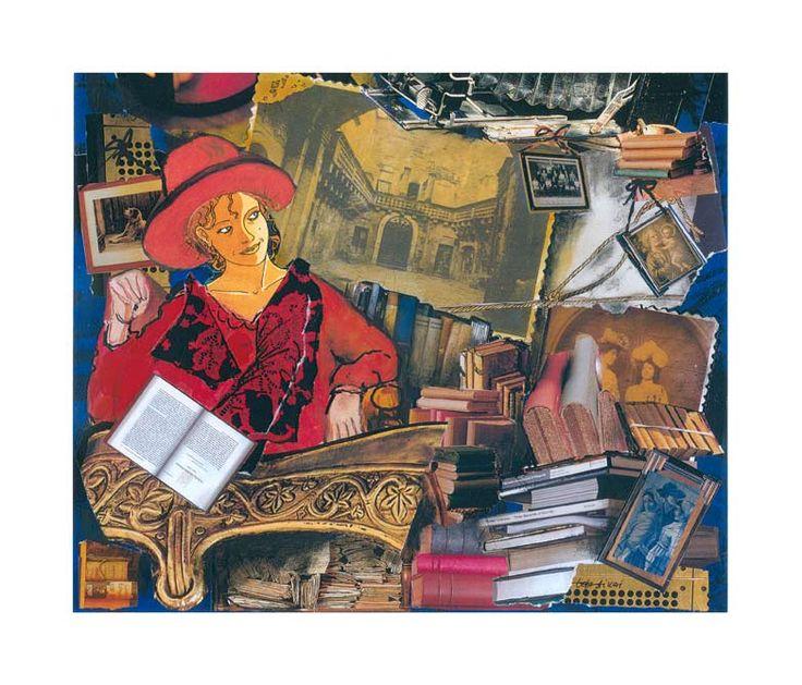 Emily /Collage 35*50 Autore Toto Dinoi
