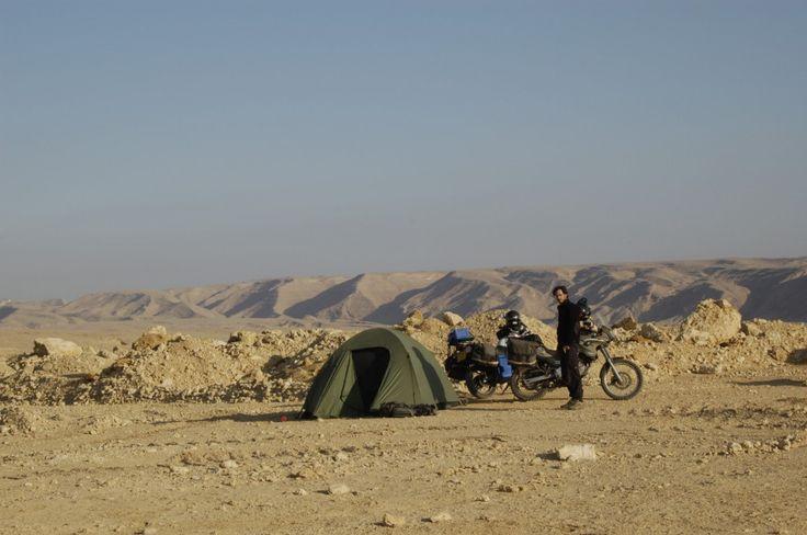 Wild camp in the desert outside Cairo