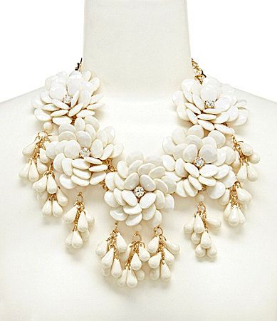Anna and Ava Big Flowers Statement Necklace #Dillards