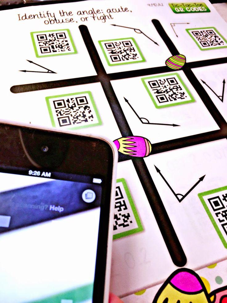 Identifying Angles QR Code Math Game FREEBIE!