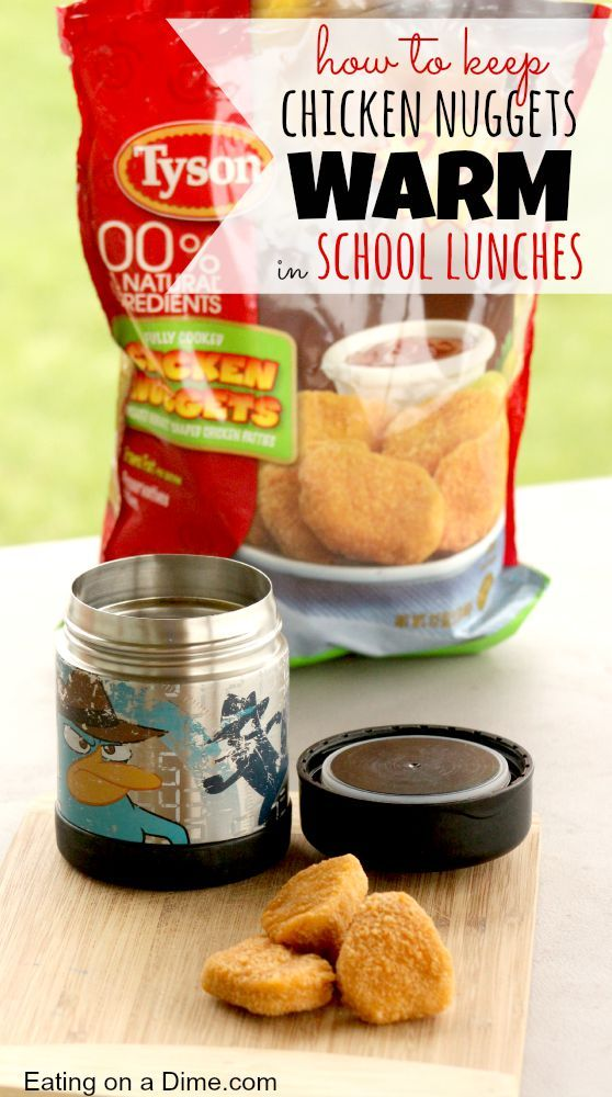 Keeping Chicken nuggets warm (and crisp) in school lunches! Some great tips on packing school lunches. Check them out here!