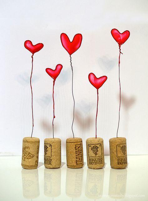 Nail polish hearts