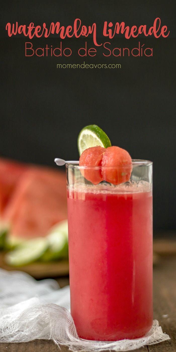 Watermelon Limeade Recipe - this delicious agua fresca is such a refreshing drink, a version of the batido de sandía served up in Costa Rica.
