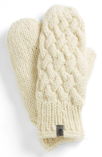 The North Face Cable Knit Mittens | Nordstrom