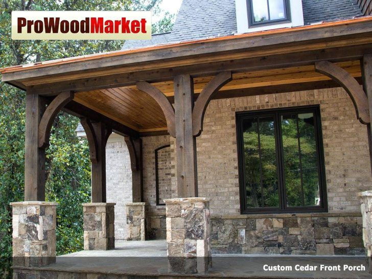 Wood Beams On Front Porch Roof Beam Columns House