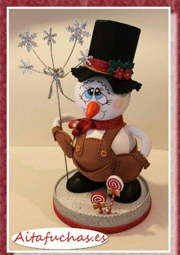 Gourd snowman.