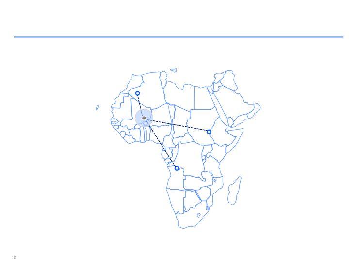 mapa interactivo de África en ppt
