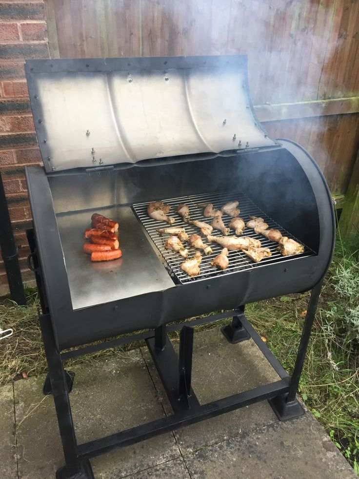 DIY Oil drum BBQ