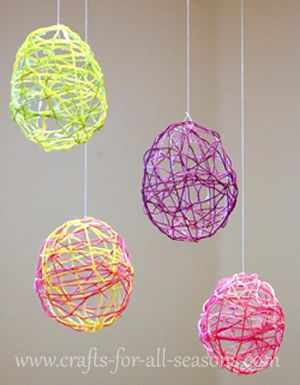 Easter ideas: embroidery thread eggs