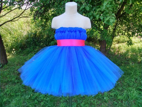 Royal blue tutu dress – wedding tutu dress – girl tutu dress – baby tutu dress – party tutu dress – birthday tutu dress