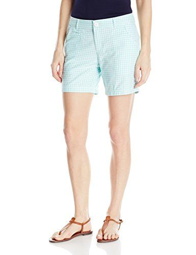 Columbia Sportswear Womens Super Bonehead II Shorts Candy Mint Gingham 8x6 ** Details can be found by clicking on the image.