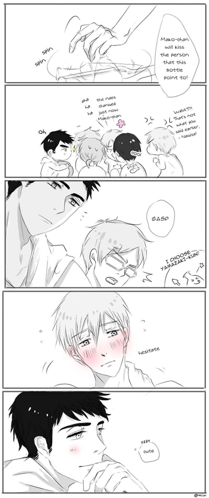 Sousuke x Makoto - just kiss him