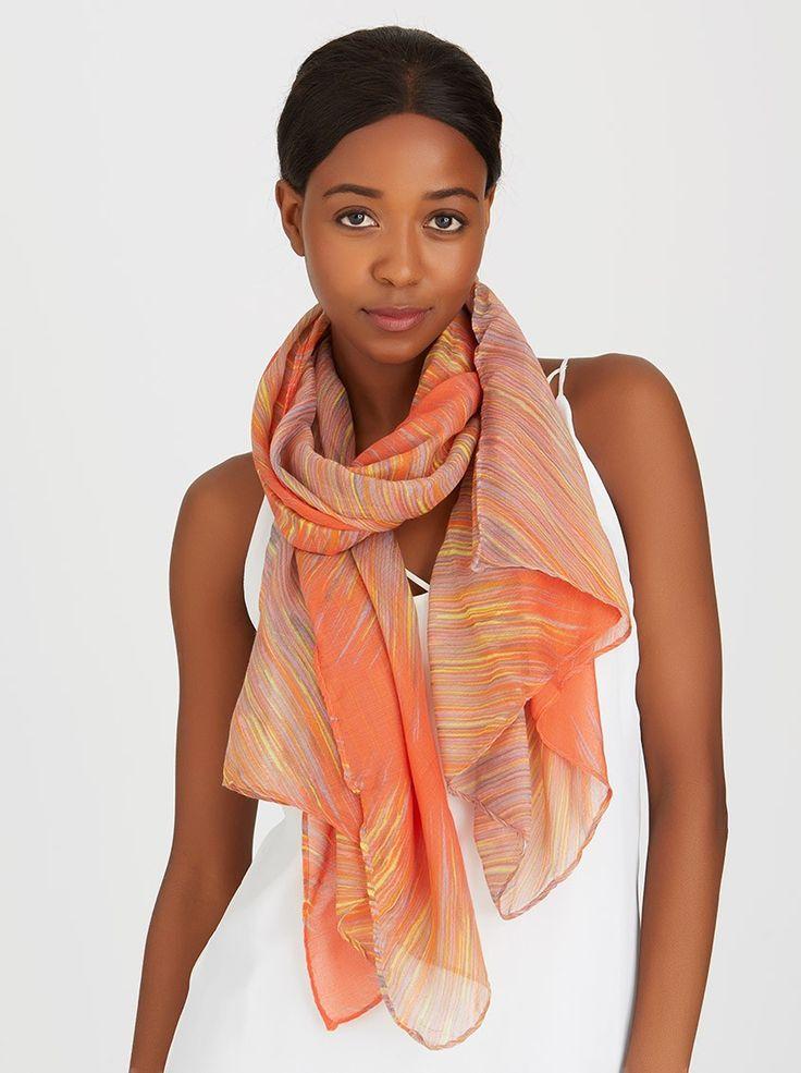 Stripe Scarf Orange