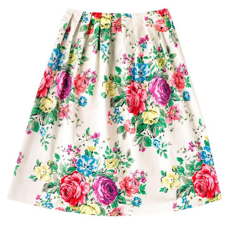 Hampstead Rose Midi Skirt | Cath Kidston |