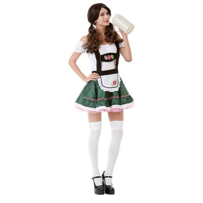 Disfraz de chica de la cerveza para mujer