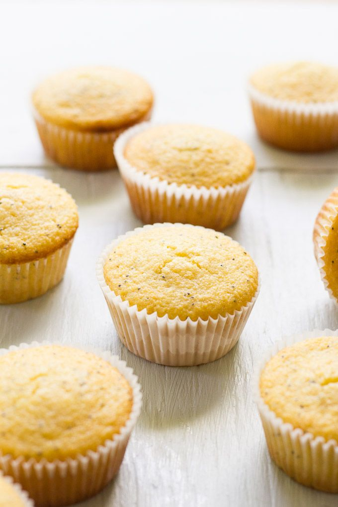 lemon poppy seed cornmeal muffins   theclevercarrot.com