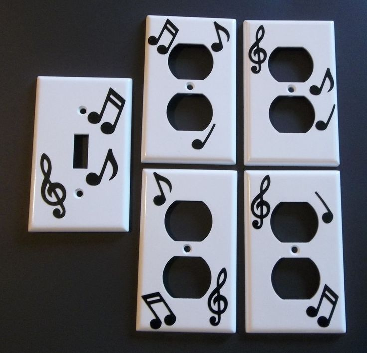 459 best light switch plates images on pinterest light switch light switch cover set of 5 black white music notes vinyl decal as pictured 298 sciox Gallery