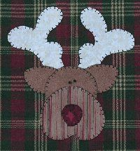 reindeer applique -- I just made 4 of these today!!