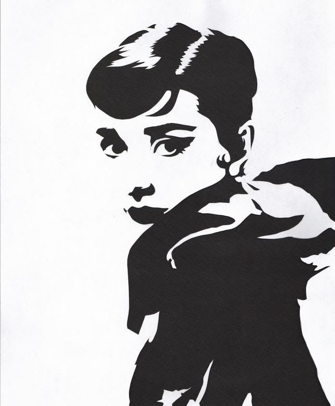 Tales from Salient City, Audrey Hepburn, paper cutting ...