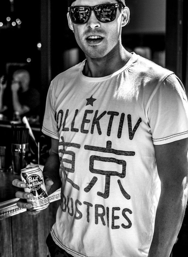 Hard Rock Hotel Pool - Las Vegas. Kollektiv Industries Tokyo Round T-Shirt. . tshirt . fashion . T-Shirt . PBR . Pabst Blue Ribbon